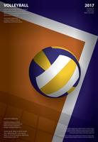Volleyball Tournament Poster Template Design Vector Illustration
