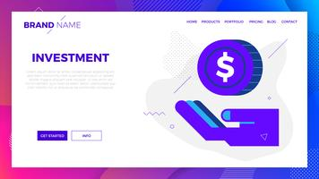 Investment concept illustration vector
