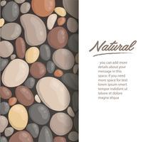 modern stil närbild runda sten bakgrund och utrymme för skriv tapeter vektor illustration