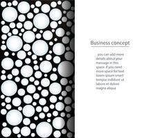 många vita cirklar på svart bakgrund vektor illustration