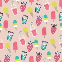 Cute Summer Pattern vector