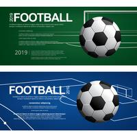 2 bannières Soccer Football Affiche Vector Illustration