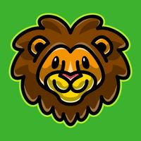 Lion head cartoon illustration