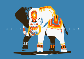 Abstract Painted Elephant Vector Illustration