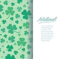 cute green clover leaf background vector illustration