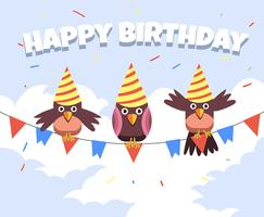 Happy Birthday Animal Birds