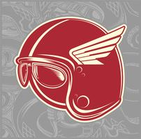 helmet cafe racer hand drawing vector