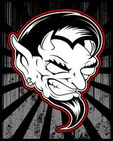 lucifer, ondska, satanisk demon vektor handritning