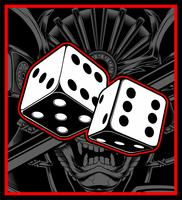 dice vector black white