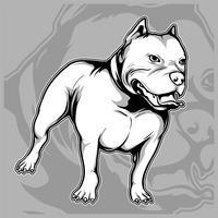 cão gera o vetor de desenho de mão de pit bull americano