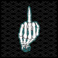 cranio Fuck Finger Hand Vector