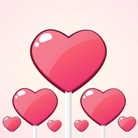 Candy hearts cartoon ,Vector illustration, Concept for Valentines day