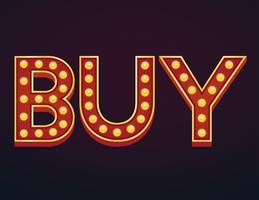 Buy banner sign marquee light bulb vintage