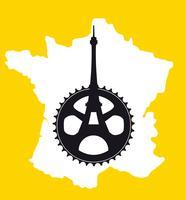 TOUR DE FRANCE MINIMALES PLAKAT