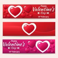 Feliz día de San Valentín hermoso fondo de plantilla banner