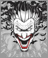 lucifer, evil, demon, joker hand tekening vector