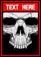 cráneo cara mano dibujo vectorial