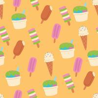 Patrón de helado lindo