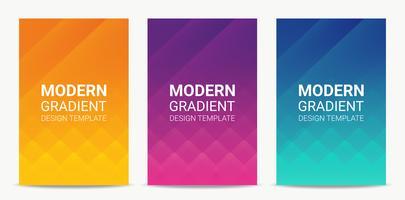 Ensemble de modèles de conception fluide moderne fond dégradé