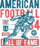 Laufendes Spielerlogoschattenbild des amerikanischen Fußballs, Logo des amerikanischen Fußballs - Vektor