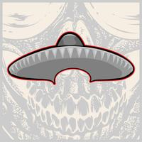Sombrero - Mexican hat and mustache - vector illustration