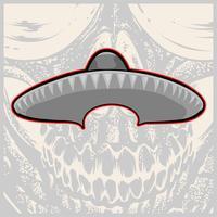 Sombrero - sombrero mexicano y bigote - ilustración vectorial