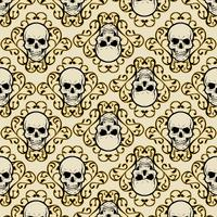 pattern skull with ornament