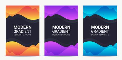 Fluid Modern gradient background design template set