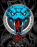 huvud orm vektor