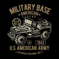 militaire basis Amerikaanse leger jeep vector