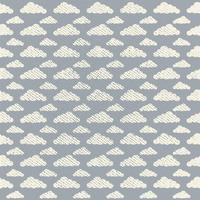 Vector Seamless Grunge Cloud Pattern