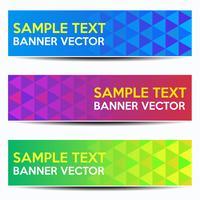 Abstracte mooie banner kleurverloop achtergrond