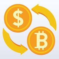 Bitcoin platt design, digitalt eller virtuellt mynt