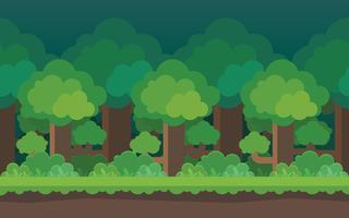 Cartoon bos naadloze achtergrond Elementen voor mobiele spelen