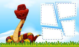 serpiente en la plantilla de marco vector
