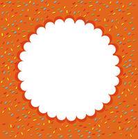 Orange Konfetti Vorlage Hintergrund vektor