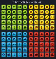 Cartoon button set game pack, GUI element for mobile game