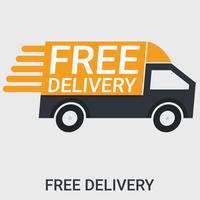 Free delivery in a flat design