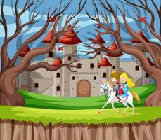 Prins och prinsessa ridhäst