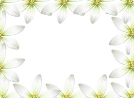 Flower Border Card concept vector