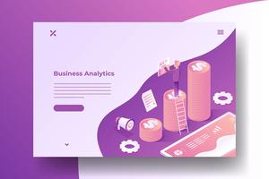 Isometric Business Growth Illustration