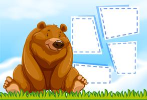 Brown bear template frame