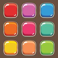 Cartoon button set game, GUI element for mobile game