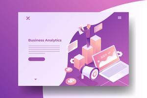 Ilustração isométrica de Marketing Digital