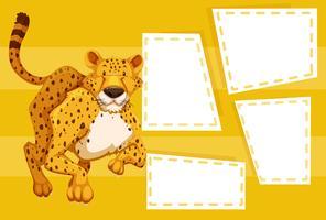 Leopard auf Notizvorlage