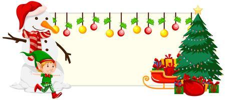 Jul festligt banner koncept