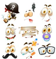 Set of facial expression  vector