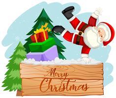 Merry Christmas santa scene
