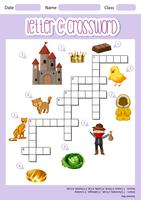 Letter C crossword template