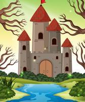 castillo en escenas de madera